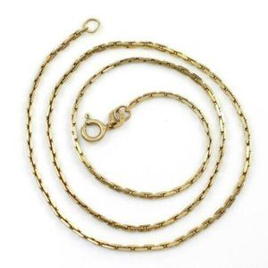 Jewelry - Solid 14K Gold 1.8mm Cable Anchor Chain Necklace